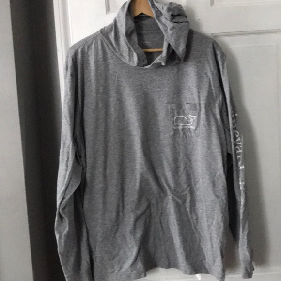 91fba3a54 Vineyard Vines Grey Hoodie T-shirt Whale Logo XL